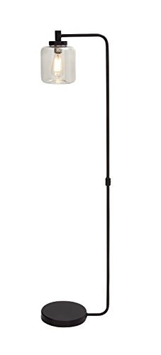 Benzara Fancy Metal Glass Floor Lamp