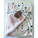 Chick Pea Pink Elephant/Giraffe/Flowers/Butterflies Baby Blanket