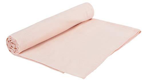 - Under the Nile Organic Cotton Baby Girl Light Peach Muslin Swaddle Blanket