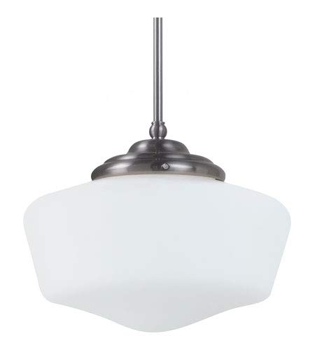 Sea Gull 65437BLE-962 Academy 1-Light Pendant, Brushed Nickel