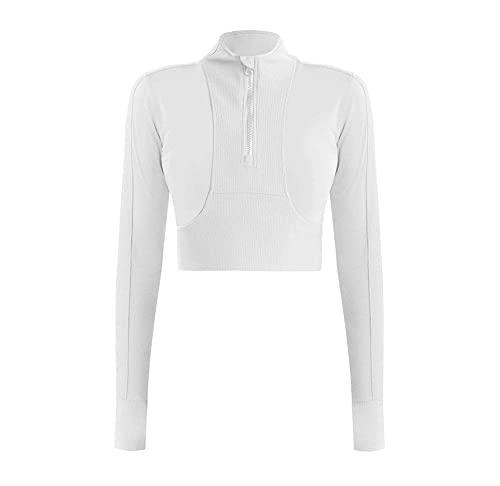 Womens Long Sleeve Tops Half Zip Pullover