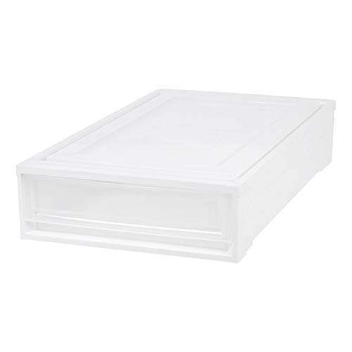 IRIS USA Under Bed Box Chest Drawer, White 170361