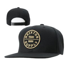 3232b37cce official brixton supply snapback black 0848d ac038