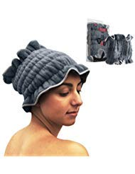 Microfiber Dry Hair Towel Crown - Quick Absorbent Microplush & Natural Anti-Frizz - Comfort Bathing - Alternative to Large Twist Wraps For Personal Use and Perfect Salon Solutions (Grey)