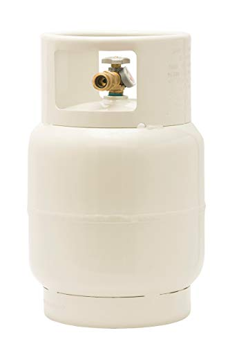 Flame King YSN201BT Steel Floor Buffer Cylinder Propane Tank with Vapor Valve and Level Gauge, 20-Pound - Buffer Propane