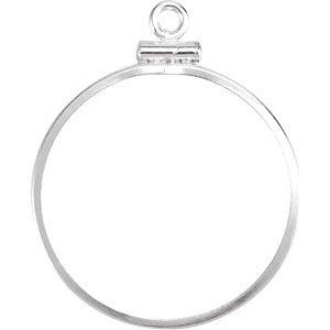 Sterling Silber 241 X 17 Mm Münze Edge Schraube Top Rahmen Für Usa