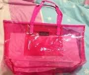 bloomingdales-clear-jelly-pink-beach-tote-bag