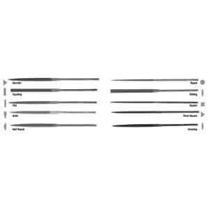 Nicholson 37430 2 Units Round Swiss Pattern Needle File 5-1//2 4 Cut