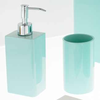 Kassatex lacca bath accessories tray light blue home for Light blue bathroom accessories