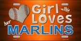 - This Girl LOVES her Marlins Novelty Metal License Plate Tag