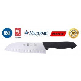 "ICEL Professional Santoku Knife –7"" Quality Stainless Steel Blade –Cutting Edge Lasts Long –Non Stick –Bacterial Free Ergonomic Handle – Dishwasher Safe –Best Knives for Slicing/ Chopping/ Dicing - Made in Europe"