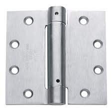 S. Parker Self Closing Slim Spring Hinges 4-1/2'' X 4-1/2'' For Medium And Heavyweight Metal Or Wood Doors In Satin Chrome Finish (Set Of 3 Hinges)