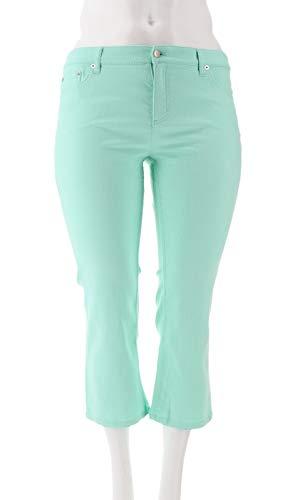 Liz Claiborne NY Jackie Colored Ankle Jeans Light Aqua 14P New A261299