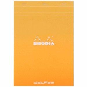 Dot Grid Orange DIN A4 21x29,7cm DotPad Block Rhodia 80 Blatt