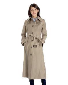 london-fog-ladies-maxi-length-raincoat-khaki-color-carmen-model-size-s