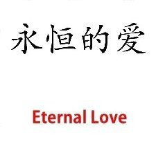 Eternal Love - Chinese Symbol - WATCHBUDDY DELUXE TWO TONE WATCH - Brown Strap - Small Size (Standard Women's Size)