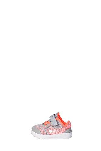 Nike Revolution 3 (Tdv), Zapatos de Recién Nacido para Bebés Amarillo / Plateado / Gris (Brght Mango / Mtllc Slvr-Wlf Gry)
