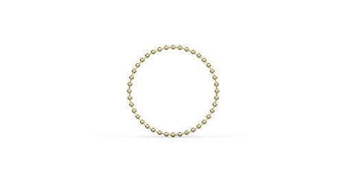 14k Gold Soft Ball Chain Ring for Women Rings for Girls (Size 6)