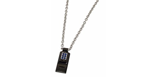 Zoppini Stainless Steel Blue Zirconia Necklace