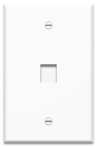 Price comparison product image Legrand - On-Q WP3301WH10 1 Port Contractor Oversized Wall Plate (Pack of 10), White