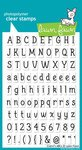 Claire's Abcs Clear Stamp Set (Lawn Fawn) (Fawn Acrylic Stamps Lawn)