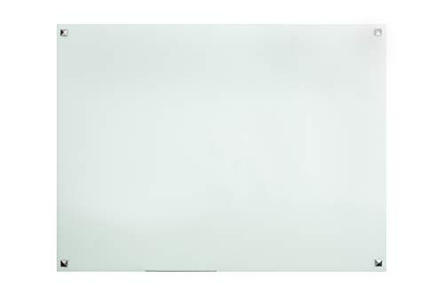 "Glass Magnetic Dry Erase Board | Whiteboard/White Board | 4' x 3' or 48"" x 36"" | Infinity Frameless Wipe Board | White | Yulli"