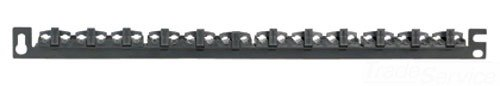Panduit SRBWCY Strain Relief Bar with Adjustable Clips, Black