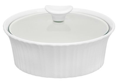 Corningware French White III Oval Casserole with Glass Cover