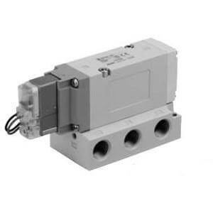 - SMC VF5120-5YD1-03F - Air Control Valve - Body Ported (Side), 1 Solenoids, Number of Positions 2, DIN Terminal, 2.4 (1 to 4/2 (P to A/B)) C, 2.9 (4/2 to 5/3 (A/B to EA/EB)) C Flow Coeffici