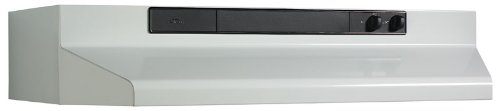 Broan 463001 Under-Cabinet Range Hood with Infinitely Adjustable Speed Control, 30-Inch, White by Broan