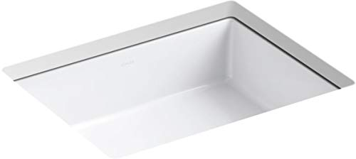 KOHLER K-2882-0 Verticyl Undermount Bathroom Sink, White