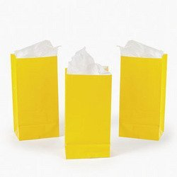 Fun Express Mini Yellow Paper Treat Bags (2 Dozen)