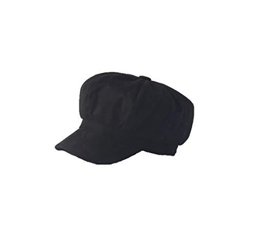 SANOMY Unisex Causal Newsboy Cap Autumn Winter Painter Octagonal Cap Warm Solid Suede Beret Hat