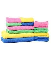 Trident 20-pieces algodón ropa de baño (baño, mano y toalla de gamuza