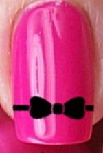 Ribbon Bow Nail Decals by YRNails