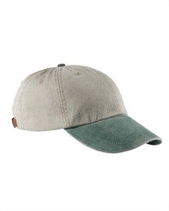 Adams Cotton Twill Two-Tone Stone Optimum Cap - Stone/ Forest Green - Forest Green Baseball Hats