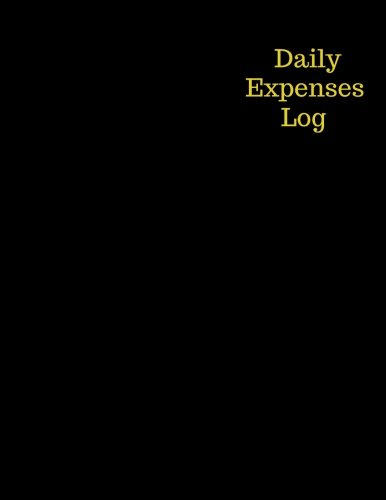 Daily Expenses log: Black Expense Ledger, Stock Record Tracker, Daily Sales Log Book, Journal Notebook for Personal, Company and Business  Usage. ... Book Size. (Office Supplies) (Volume 4)