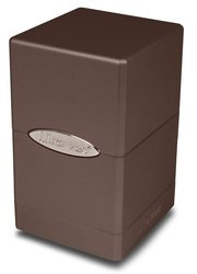 Ultra Pro Metallic Dark Chocolate Satin Tower Deck Box by Ultra Pro