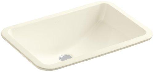 Biscuit Undermount Sink (Kohler 2214-96 Vitreous china undermount Rectangular Bathroom Sink, 22.5 x 16.19 x 9.31 inches, Biscuit)