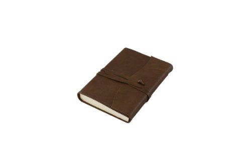 Amalfi Small Leather Journal, Chocolate Brown