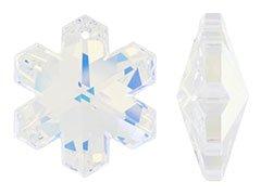 Set of 2 Swarovski 20mm Crystal AB Snowflake Pendant (Ab Snowflake Pendant)