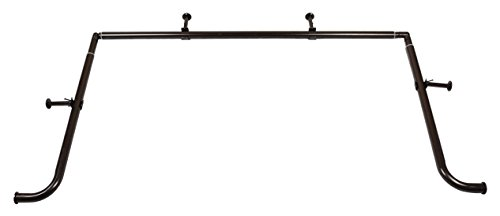 1-Inch Diameter Bay Window Curtain Rod Set for Bayview Windows, Oil-Rubbed Bronze