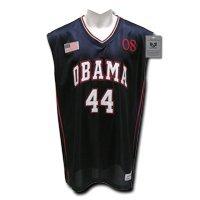 Rapiddominance Presidential Basketball Jersey, Navy, Large - Barack Obama Basketball