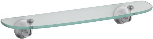 KOHLER K-11283-G Forte Glass Shelf, Brushed Chrome