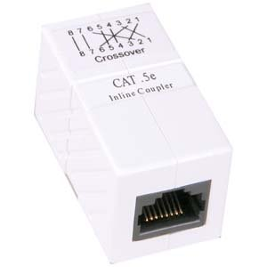 - InstallerParts Cat 5E RJ45 Inline Crossover Coupler White