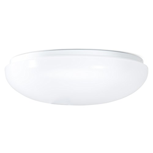 Green Beam LED Dome Ceiling Light Fixture, White, Round |15 inch, 35 Watt- 3000 Lumen | Flush Ceiling Mount, Easy Installation | 4000 K Natural Light | Great for Kitchen, Hallway, Bathroom, Office