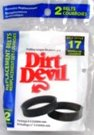 Dirt Devil 3-DJ0900-000 Replacement Vacuum Belt (2 pack) (Type Devil Replacement Dirt)