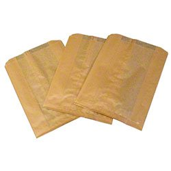 Zoom Supply Hospeco Tampon Bags Liners, Commercial-Grade Hospeco Sanisacs, Kraft Waxed Paper Hospeco Disposal Bags -- Hygienic Safety & Courtesy