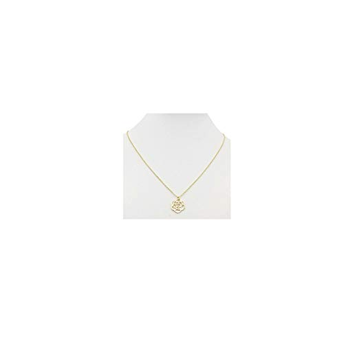 Gold Rose Flower Pendant Necklace 18K Gold Plated Delicate Cute Hollow Minimalist Necklaces Simple Jewelry for Women Girls