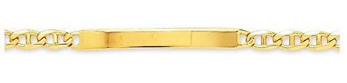 www.diamants-perles.com - Bracelet enfant - Identité bébé - Gourmette - Or - Maille Marine plate